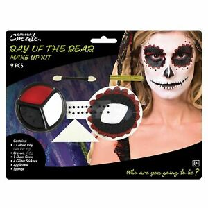 Day of the Dead Makeup Kit Mexican Dia los Muertos Halloween Fiesta