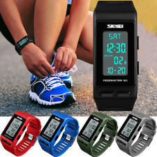 Men's Women's Sport Band Digital Wrist Watch LED Waterproof Chronograph Repeater