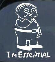 Ralph I'm Essential Sticker - Vinyl Decal - Funny Diecut Window SUV Car Truck