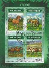 Timbres Chevaux Mozambique 6011/4 o année 2014 lot 16690 - cote : 17 €