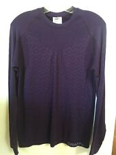 New Women's Craft Warm Crew Base Layer Size Large Purple Long Sleeve