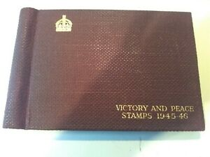 The F G Series Victory and Peace Stamps Album. 168/181 Stamps Included.