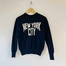 JOANIE NEW YORK CITY SPELL OUT NAVY COTTON PULLOVER | SMALL