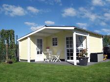 Agande Gartenhaus Blockhaus Gerätehaus 510x480,40 mm mit Fußboden und ISO 40395