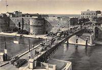 Cartolina - Postcard - Taranto - Ponte girevole - auto d'epoca - 1955