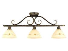 plafonnier RUSTIQUE 3XE27 Lampe brun ANTIQUE/Or Couverture Maison de campagne