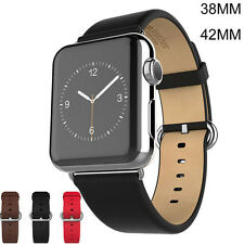 Leather Wrist Strap Band Bracelet Watchband For Apple Watch iWatch 38mm/42mm New