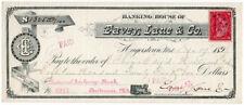 (i. b) US ingresos: cheque bancario deber 2c (Eavey Lane & Co)