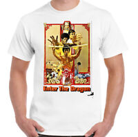 Enter the Dragon T-Shirt Mens Bruce Lee Martial Arts MMA Gym Unisex Top Movie