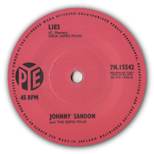 "JOHNNY SANDON - ""LIES"" c/w THE REMO FOUR -  ""PETER GUNN"" - BRIT ROCKERS - LISTEN"