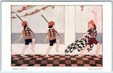 WILLEBEEK LE MAIR Signed Artist  SOLDIERS' MARCH Soldatenmarsch Postcard