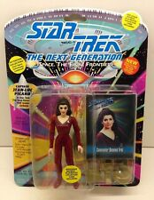 PLAYMATES STAR TREK THE NEXT GENERATION COUNSELOR DEANNA TROI ON WRONG CARD MOC