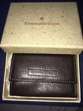 THIS MONTH SPECIAL!! ERMENEGILDO ZEGNA Leather Key Case Holder