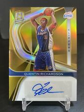2019-20 Panini Spectra Quentin Richardson Gold Prizm AUTO #/10 (MW) Clippers