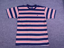 New listing Vtg 90s Hang Ten Mens Striped T Shirt Medium Skateboard Punk Surf Ring Neck