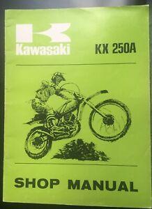 KAWASAKI KX250A  Moto X bike - SHOP MANUAL