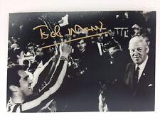 Rare Bob Moncur Newcastle Signé Photo + COA Autographe Foires Finale de la Coupe