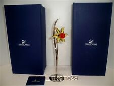 SWAROVSKI CRYSTAL PARADISE DACALI LIGHT TOPAZ EXOTIC FLOWER 848448 BNIB COA