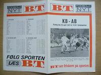 Football Programme 1967- KB v AB, 25 April (Danish Football Programme)