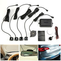 Car Rear Reverse Parking 4 Sensors Reversing Audio Rear Buzzer Alarm Kit System