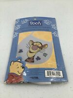 "Leisure Arts Counted Cross Stitch Kit ""Pooh Tigger With Butterflies Bib 113222D"