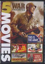 War Favorites: 5 Movies (DVD, 2017) Gable, Stewart, Reagan, Cagney