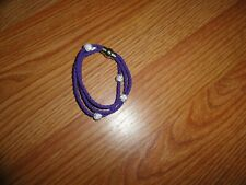 Purple Rope Bracelet with bling