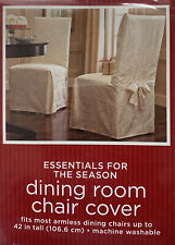 4 NEW Dining Room Chair Covers Ivory Damask Cotton Blend Washable Target
