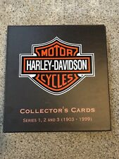 Motorcycle Collector Cards, Custom Album and Harley Davidson Book.