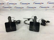 Lot of 2 - Plantronics C054 Wireless Headsets w/ Bases and Charging Cables