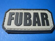 "TACTICAL MORALE PATCH ""FUBAR"" PVC WITH HOOK BACK F.U.B.A.R. COMBAT MILITARY"