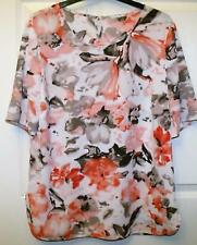 NEW DASH BEAUTIFUL PINK & BEIGE FLORAL TOP SIZE 12 # 241