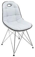 Schalenstuhl Anja 2er Set Weiß Pep Designer Retro 60er Jahre Stühle Pop Art