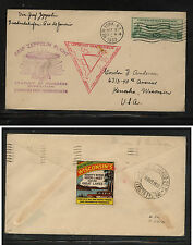 US  C18 Zep stamp on cover  New York first  day    1933 Graf Zeppelin   MS0110