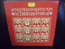 Arthur Fiedler Boston Pops Christmas Festival VG+ 1970 Polydor Stereo