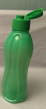 Tupperware Water Bottle 1L Green Flip Top Pour Seal -Hard to find! Last one~New