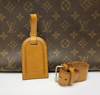 Authentic Louis Vuitton Large Luggage Name ID Tag w/ Strap and Poignet #2