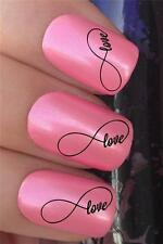 WATER NAIL TRANSFERS INFINITY LOVE SYMBOL VALENTINES DAY DECALS STICKERS *333