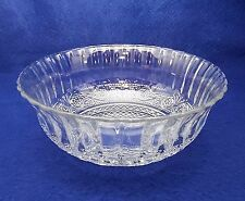 """Vintage Sandwich Clear Glass Bowl - Fluted Sides - Great Size - 7 1/2"""""""