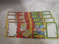 Dr. Seuss Sticky Notes & Flags In Folder One Fish Two Fish 4 Cards