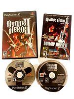LOT OF 2 GUITAR HERO PlayStation 2 Games - Guitar Hero 2 & Guitar Hero 3 - PS2