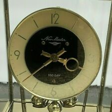 Vintage New Master, Nisshin Clock Co. 100 Day Mantel Clock, Made in Japan