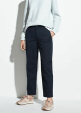 Vince Washed Stretch Cotton Casual Pant Pants Cropped Ankle Womens 6 *NEW* $245