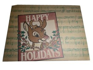 Vintage Rudolph Red Nose Reindeer Gift Box 1993 Montgomery Ward LARGE