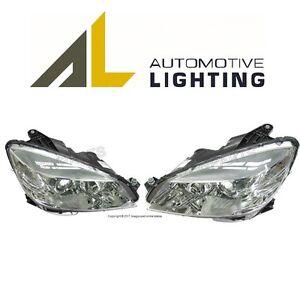For Mercedes W204 C300 C350 Pair set of 2 Headlight Assemblies Headlamp Halogen