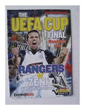 RARE Programme 2008 Uefa Cup Final Rangers Scotland - Zenit St Petersburg