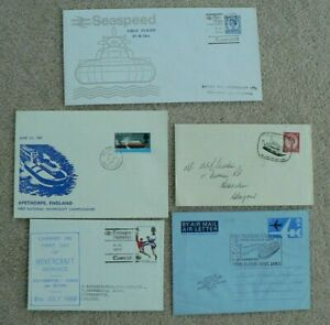 4 Hovercraft Related Covers + Aerogramme