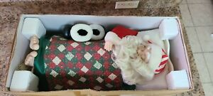 Vintage Telco Animated Motionette Christmas Sleeping Santa with Sound 1992