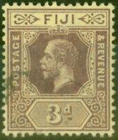 Fiji 1915 3d on Pale Yellow SG130c V.F.U