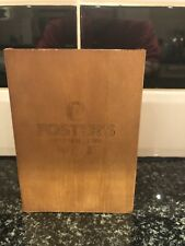 Fosters Lager Drinks Coaster Caddy Pub Shed Bar Man Cave